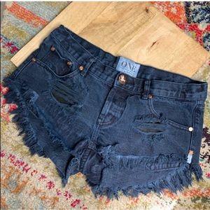 One Teaspoon Bonitas distressed cut offs shorts